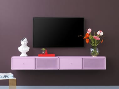 Lacquered Wall Mounted TV Cabinet TV U0026 SOUND   Wall Mounted TV Cabinet