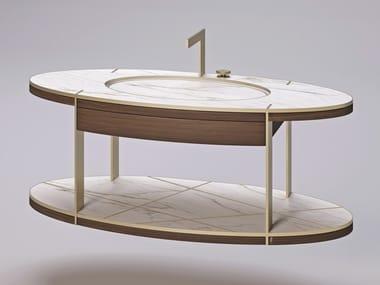 Meuble sous-vasque suspendu avec lavabo intégré THIRTIES | Meuble sous-vasque suspendu