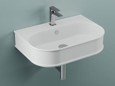 Oval wall-mounted ceramic washbasin ATELIER | Wall-mounted washbasin