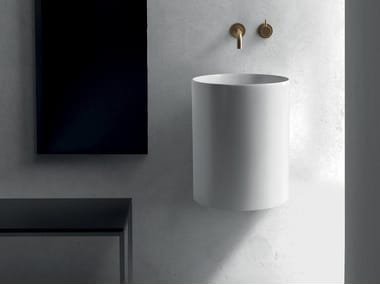 Wall-mounted ceramic washbasin CORE | Wall-mounted washbasin