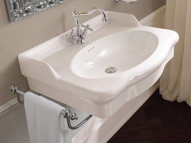 Single wall-mounted ceramic washbasin CASTELLANA | Wall-mounted washbasin