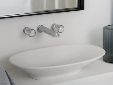 3 hole wall-mounted washbasin tap NUDE | Wall-mounted washbasin tap