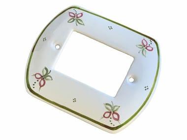Ceramic rectangular wall plate ACCESSORI | Wall plate