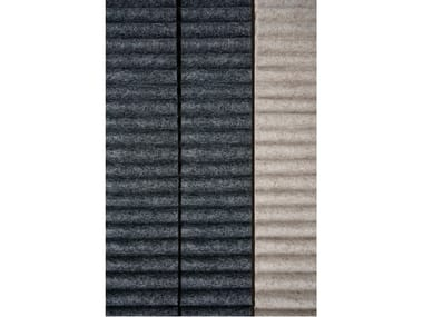 Acoustic wool felt wall fabric RIBBED | Upholstery fabric