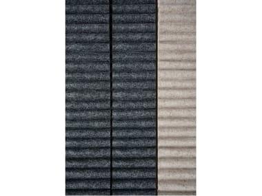 Tessuto acustico da parete in feltro di lana RIBBED | Tessuto da tappezzeria