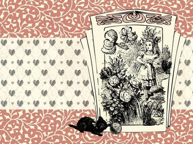 For all ages wallpaper, PVC free, eco, washable ALICE AND THE BLACK KITTEN