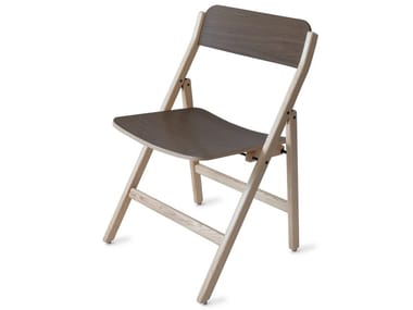 Folding walnut chair FOLDING | Walnut chair