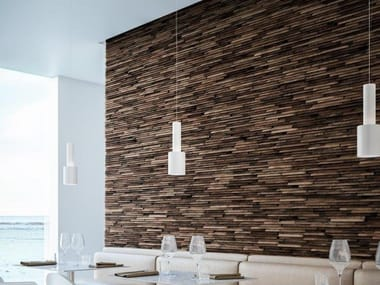 Reclaimed wood 3D Wall Cladding WALNUT EAVES