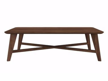 Rectangular walnut coffee table WALNUT OSSO | Rectangular coffee table