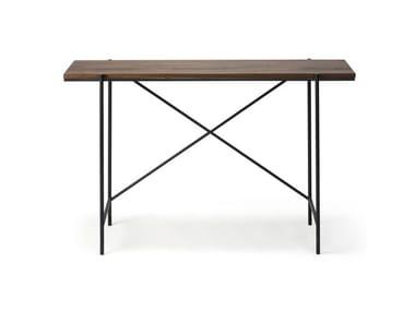 Rectangular walnut console table WALNUT RISE | Console table
