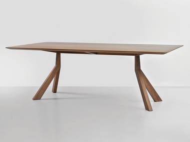 Tavolo rettangolare in legno impiallacciato BRIDGE | Tavolo in legno impiallacciato