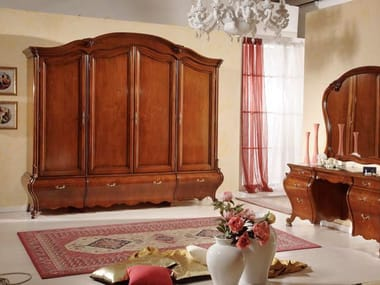Solid wood wardrobe with drawers PERSIA | Solid wood wardrobe