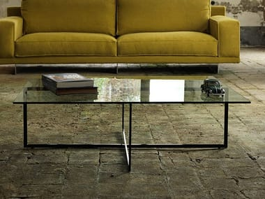 Rectangular glass coffee table for living room WARHOL | Rectangular coffee table