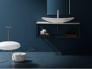 Piano lavabo in Tecnoril® MAORI | Piano lavabo