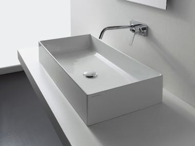 Countertop rectangular ceramic washbasin TEOREMA 2.0 | Washbasin