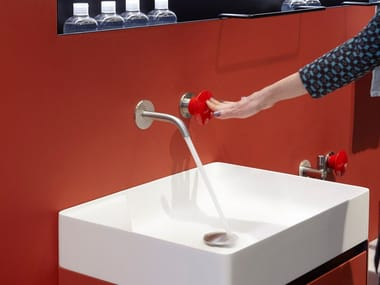 Miscelatore per lavabo a 2 fori a muro MAYDAY | Miscelatore per lavabo