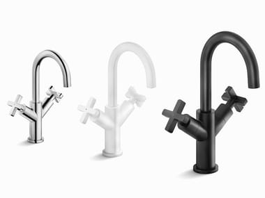 1 hole washbasin tap with individual rosettes LIRA | Washbasin tap