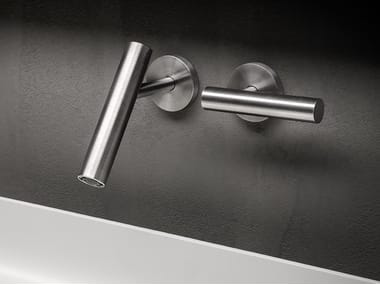 2 hole wall-mounted stainless steel washbasin tap CILINDRO | Washbasin tap