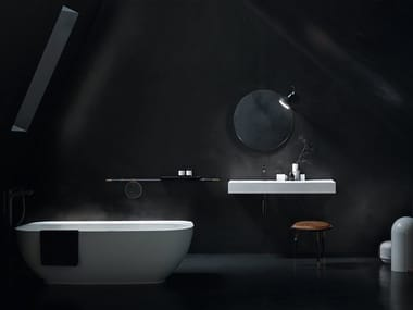 Lavabo in Solid Surface con piano FREE | Lavabo con piano