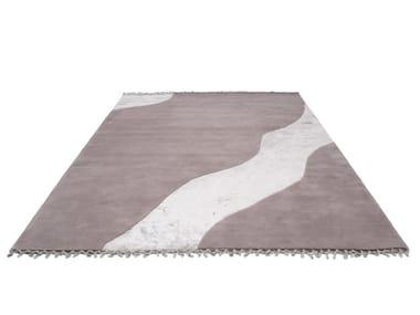 Handmade rectangular wool rug WATER