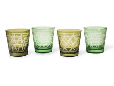Set di bicchieri da acqua in vetro TIE UP | Set di bicchieri da acqua