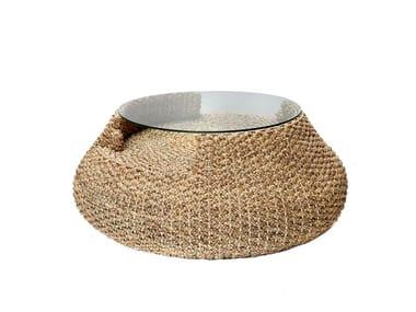 Tavolino rotondo in fibre vegetali WATERHYACINTH   Tavolino