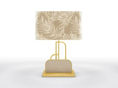 Metal table lamp and fabric lampshade WAVE | Table lamp