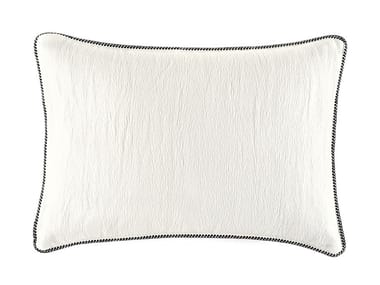 Solid-color rectangular cotton cushion WAVELETS