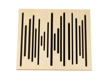 Wooden decorative acoustical panel WAVEWOOD BC DIFFUSER