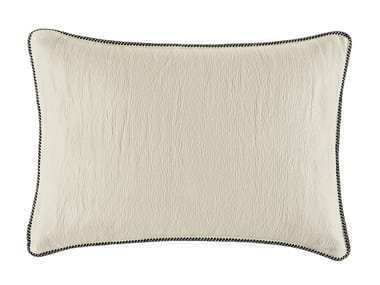 Solid-color rectangular cotton cushion WAVES
