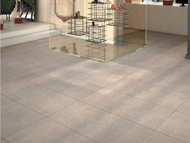 Porcelain stoneware flooring with concrete effect WAY | Flooring