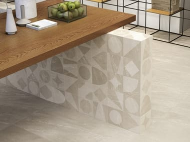 Pavimento/rivestimento in gres porcellanato effetto pietra WAYSTONE DECOR WARM