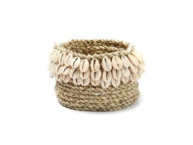 Natural fibre basket WEAVED COWRIE #3