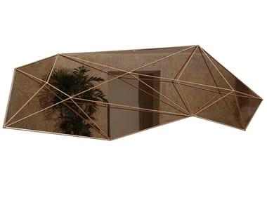 Wall-mounted steel mirror WEB