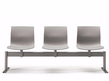 Freestanding plastic beam seating WEBBY 336 B3   Beam seating