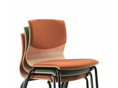 Stackable fabric chair WEBWOOD 353S