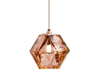 LED blown glass pendant lamp WELLES DOUBLE BLOWN GLASS | Pendant lamp