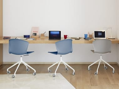 Trestle-based office chair with castors WHASS | Trestle-based office chair