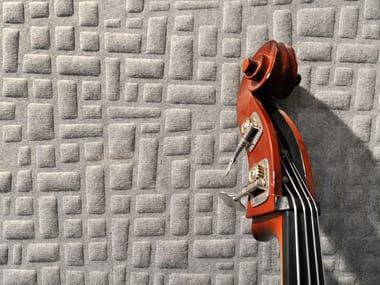 Sheep's wool decorative acoustic panel WHISPERWOOL NICKEL