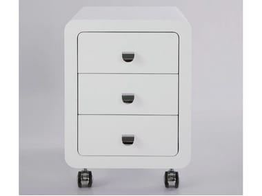MDF office drawer unit with casters WHITE CLUB | Office drawer unit