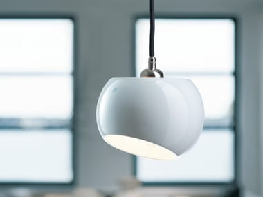 LED porcelain pendant lamp WHITE MOONS 1 | Pendant lamp