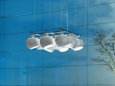 LED porcelain pendant lamp WHITE MOONS 3 X 3 | Pendant lamp