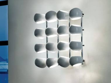 LED porcelain wall lamp WHITE MOONS 4 X 4   Wall lamp