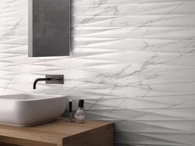 White-paste wall tiles with marble effect PURITY OF MARBLE | White-paste wall tiles