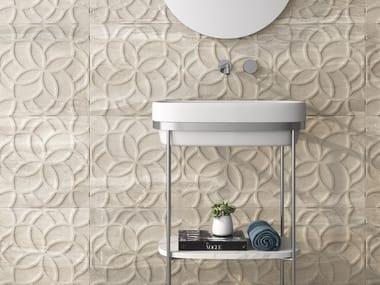 White-paste 3D Wall Tile CALEDONIA | White-paste wall tiles