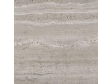 Pavimento/rivestimento in gres porcellanato effetto pietra WIDE GRES 240 REVERSO GRIGIO