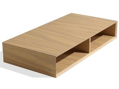 Tavolino da caffè rettangolare in legno impiallacciato WIDE