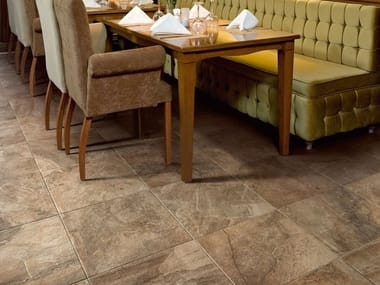 Porcelain stoneware wall/floor tiles with stone effect WILD WALNUT