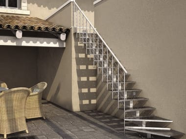 Outdoor steel Open staircase WILLY FX