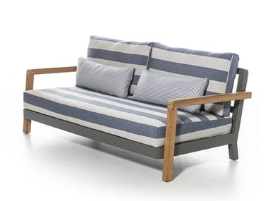 Fabric garden sofa with removable cover WIN 03/04